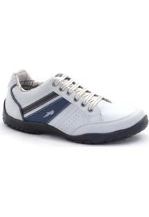 Sapatênis Polo Blu Casual Masculino - Masculino-Branco