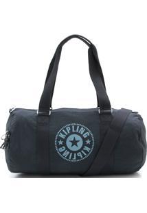 Bolsa Kipling Silk Logo Duffle Onalo Sky Azul Marinho