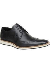 Sapato Oxford Masculino Malbork Em Couro 516 - Masculino-Preto