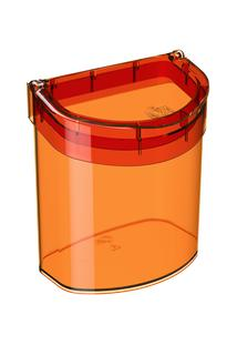Lixeira Para Pia Glass 20,3 X 14,6 X 21,3 Cm 2,7 L Tangerina Coza
