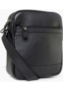 Bolsa Bennemann Shoulder Bag Em Couro Preto