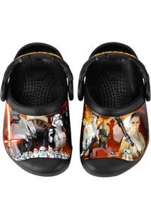 Sandália Crocs Cc Star Wars Clog Infantil - Masculino-Preto+Vermelho