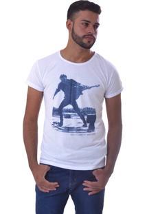 Camiseta Unyforme Estampada Gola Redonda Branca