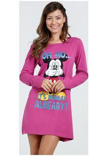 Camisola Feminina Mickey Manga Longa Disney