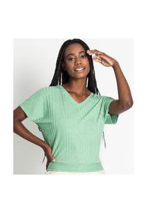 Blusa Feminina Canelada Endless Verde