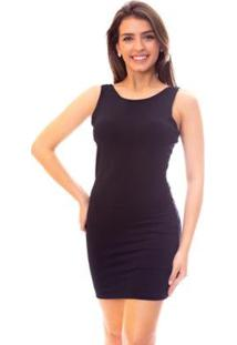 Vestido Moda Vicio Bojo & Amarração Feminino - Feminino-Preto