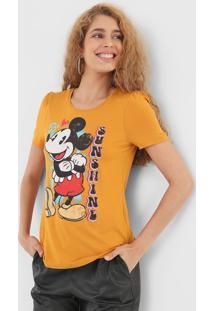 Blusa Cativa Disney Mickey Amarela - Kanui