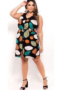 Vestido Curto Almaria Plus Size Plump Estampado Pr