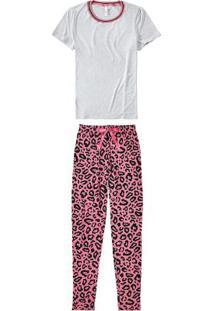 Pijama Cinza Claro Longo Oncinha