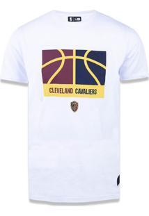 T-Shirt New Era Basico M/C Cleveland Cavaliers Branco