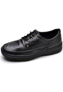 Sapato Pizaflex Conforto - Masculino-Preto