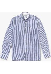 Camisa Lacoste Regular Fit Masculina - Masculino-Azul Navy