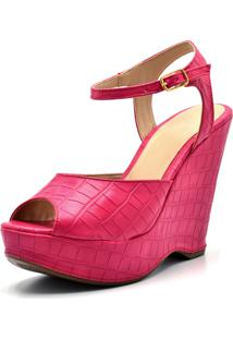 Sandália Plataforma Gisela Costa Pink