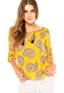Blusa Fiveblu Fashion Amarela