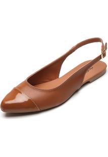 Sapatilha Dafiti Shoes Verniz Caramelo - Caramelo - Feminino - Dafiti
