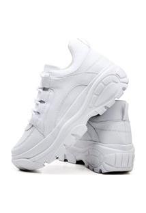 Tênis Sapatênis Casual Plataforma Fashion Feminino Dubuy 728El Branco