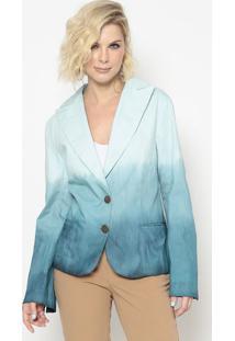 Blazer Com Bolsos- Azul Claro & Azul Escuro- Cotton Cotton Colors Extra
