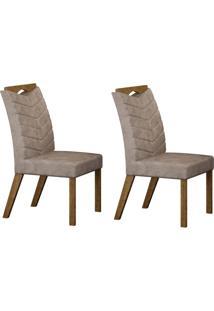 Conjunto Com 2 Cadeiras Verona Ipê E Cinza