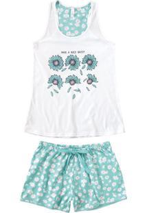 Pijama Curto Nadador Floral Malwee Liberta