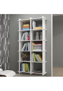 Estante Para Livros Encaixe Bx 01 Branco - Brv Móveis