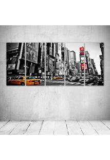 Quadro Decorativo - New York City (2) - Composto De 5 Quadros