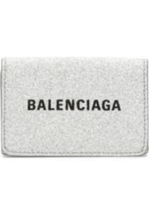 Balenciaga Carteira Everyday Mini - Prateado