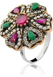 735816b83cf ... Anel Le Diamond Pedra Multicolorido Verde