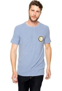 Camiseta Osklen Estampada Azul