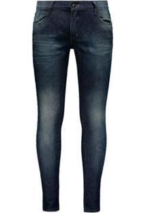 Calça Fatal Skinny Jeans Masculina - Masculino-Marinho