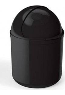 Lixeira Para Pia Uz, Plástico, Preto - Uz350-Pr