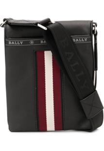 Bally Bolsa Carteiro Com Listra Contrastante - Preto