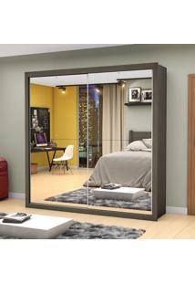 Guarda-Roupa Salvador Premium 2 Portas De Correr Com Espelho Malbec - Mezzanine Móveis