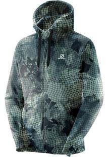 Blusa Salomon Fz Graphic Hoodie Masculino Verde Gg