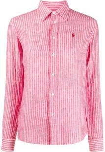 Polo Ralph Lauren Striped Linen Shirt - Vermelho