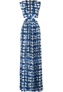 Proenza Schouler Vestido Tie Dye - Azul