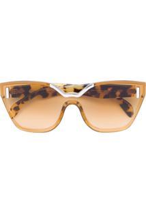 5794f80573f07 Óculos De Sol Marrom Prada feminino   Shoelover