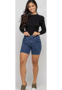 Bermuda Meia Coxa Almaria Plus Size Shyros Jeans A