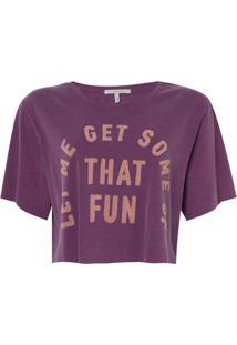 Camiseta Rosa Chá Fun Malha Algodão Roxo Feminina (Grape Juice, G)