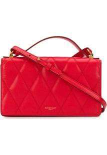 Givenchy Bolsa Transversal Com Pesponto - Vermelho