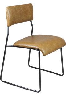 Cadeira Gardien Estofada Base Aço Carbono Preto Design Minimalista