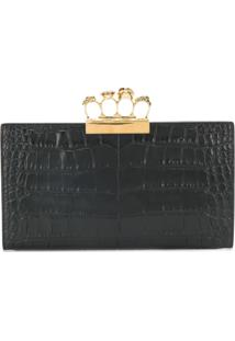 Alexander Mcqueen Knuckle Duster Clutch Bag - Preto
