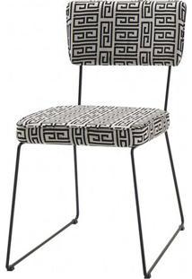 Cadeira Milan Estampa Lab Base Preta - 49681 - Sun House