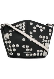Alexander Mcqueen Studded Cross-Body Bucket Bag - Preto