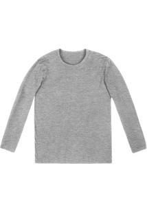 Camiseta Masculina Básica Slim Em Malha De Algodão