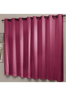 Cortina Blackout Lisa 220X220Cm Com Ilhós Pink - Sultan