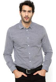 Camisa Colcci Listrada Cinza