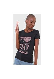 Camiseta Roxy Shadow Preta