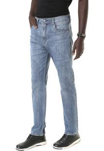 Calça Jeans Ellus Reta Deep Blue Elastic Azul