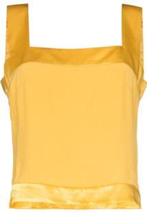 Usisi Blusa Gail Decote Quadrado - Amarelo