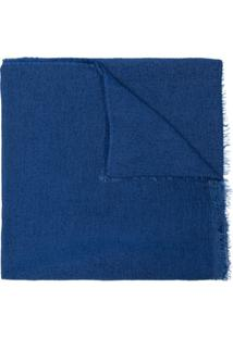 Faliero Sarti Echarpe De Tricô - Azul